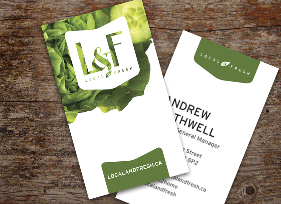Local & Fresh Business card design