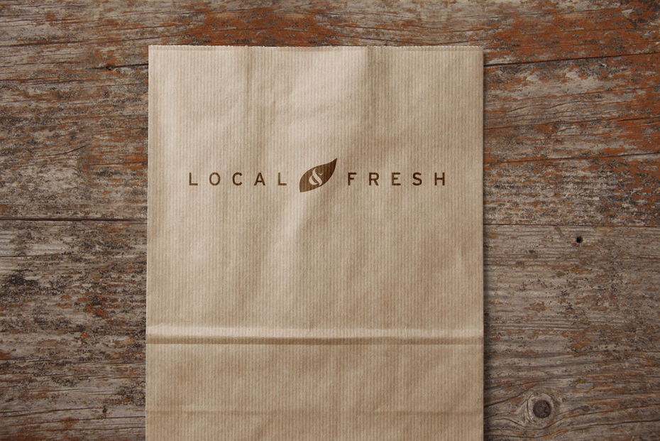 Local & Fresh print design