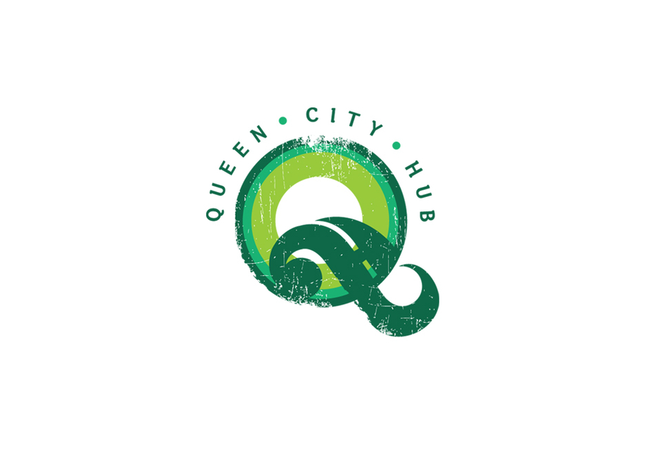 Queen City Hub logo design